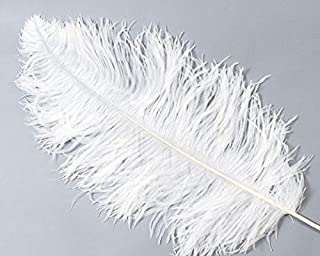 100pcs, White Ostrich Feathers 11-14 Inch(30~35cm) Ostrich Plumes