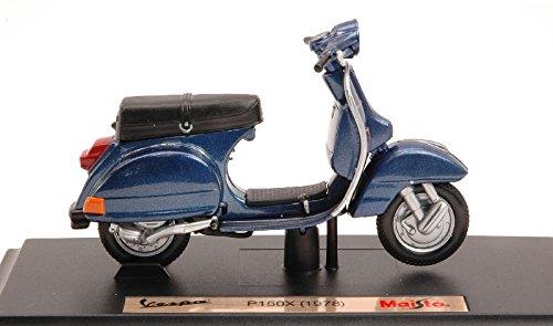 VESPA P150X 1978 BLUE 1:18 Maisto Moto modello modellino die cast