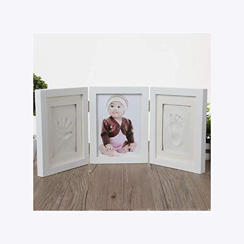 HOKVJ Newborns Photo Frame Baby Molds Handprint Footprint 3D DIY Soft Clay Inkpad Kids Exquisite Souvenirs Casting Home Decoration