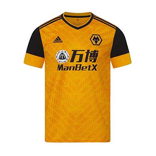 adidas 2020-2021 Wolves Home Football Soccer T-Shirt Jersey