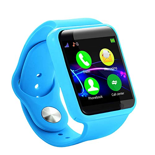 1.54 Inch Screen Smart Child Watch, Music Playback, Sedentary Reminder, Calculator Alarm, Multi-Functional Bluetooth Touch Smartwatch, Best Gift(Blue)