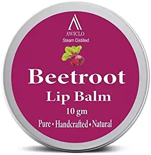 Awiclo Nature's Science Beetroot Lip Balm,100% Organic Lip Balm With Shea Butter, Cocoa Butter & Almond Oil, For Both Men...