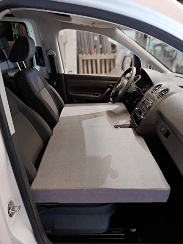 KFoam.es Colchón Plegable Cama Delantera para Volkswagen Caddy Camper Manual Color Gris (2004-2019)