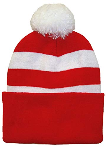 Arena Sjaals Bristol Stad Supporters Rood en Wit Traditionele Stijl Pompom Hoed