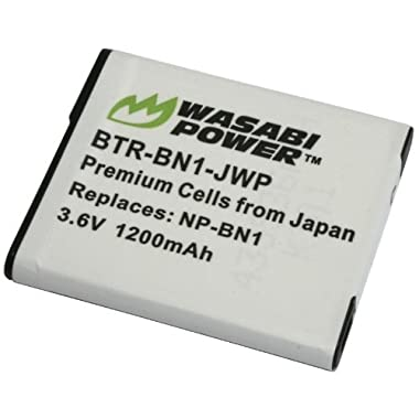 Wasabi Power Battery for Sony NP-BN1 (Compatible with Cyber-shot DSC-QX10, DSC-QX30, DSC-QX100, DSC-TX100V, DSC-TX200V, DSC-W800, DSC-W810, DSC-W830, DSC-WX150, DSC-WX220 & more)