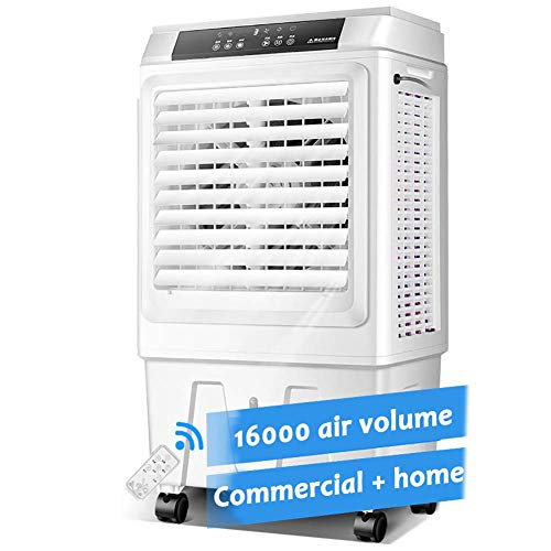 YLLN Mobile tragbare Klimaanlage, großer Verdunstungsluftkühler im Innen- und Außenbereich, 3 Geschwindigkeiten mit ferngesteuertem Luftkühler Luftbefeuchter Stummschaltlüfter 16000 Luftvolumen