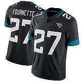 NCNC # 27 Jacksonville Jaguars Fournette Maillots de Rugby pour Hommes et Femmes, Fan Edition Broderie T-Shirt Football Américain Football Sportswear (S-XXXL)-Black-L