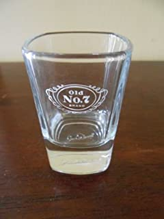 Jack Daniel's Old No 7 Professional Series Signature Shot Glass - Jack Daniels Signature in Base of Glass
