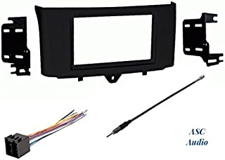 Premium ASC Car Stereo Install Dash Kit, Wire Harness, and Antenna Adapter to Install an Aftermarket Double Din Radio for 2011 2012 2013 2014 2015 Smart ForTwo,