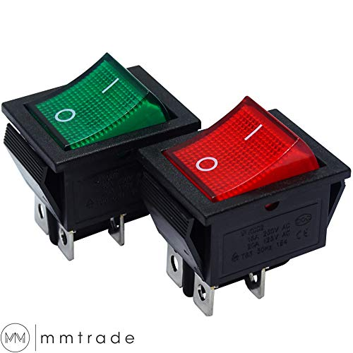 KFZ 12V Wippschalter SPST Wippenschalter LED Beleuchtet Einbauschalter N01