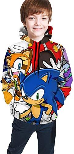 YeeATZ Children's Hoodies Sonic-The Hedg-Ehog - Sudadera unisex con capucha para chicos, chicas, adolescentes y niños