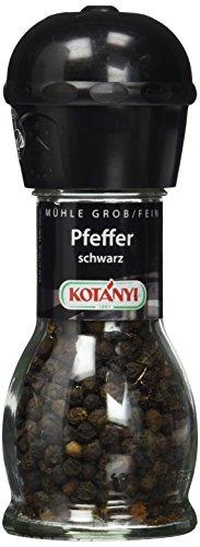 Kotanyi Pfeffer Mühle, schwarz, 2er Pack (2 x 36 g)