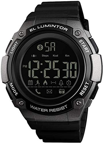 JSL Deportes Smart Watch al aire libre multifuncional hombres s reloj de pulsera 50M impermeable podómetro contador de calorías llamadas/SMS
