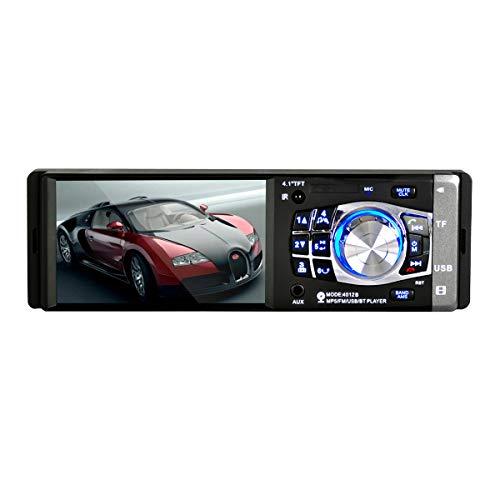 WOVELOT 4.1 Pouce Unique Din Unite Principale Bluetooth Stereo au Tableau de Bord Autoradio Medias Lecteur/Telecommande