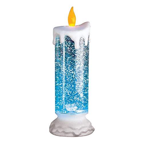 BULABULA Vela LED electrónica recargable resistente al agua con purpurina que cambia de color.