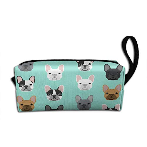 French Bulldog (2) Makeup Bag Adorable Travel Cosmetic Pouch Toiletry Organizer Case Gift for Women