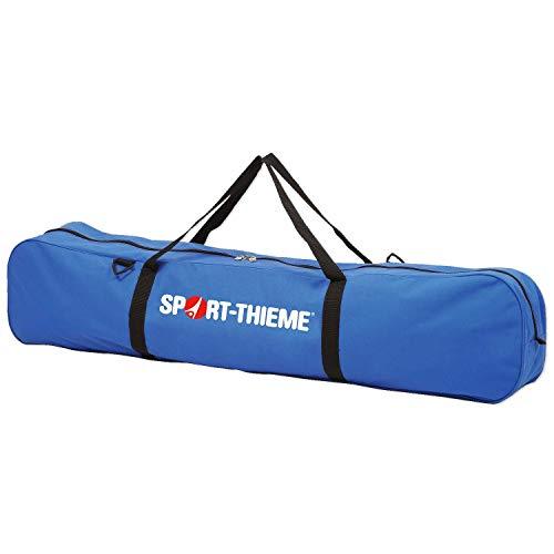 Sport-Thieme Volleyball-Netztasche | Transporttasche für 2 Volleyballnetze, 20 Floorballschläger, 15 Paar Nordic-Walking-Stöcke | Robustes 100% Nylon | 124x19x28 cm | Blau-Weiß | Markenqualität
