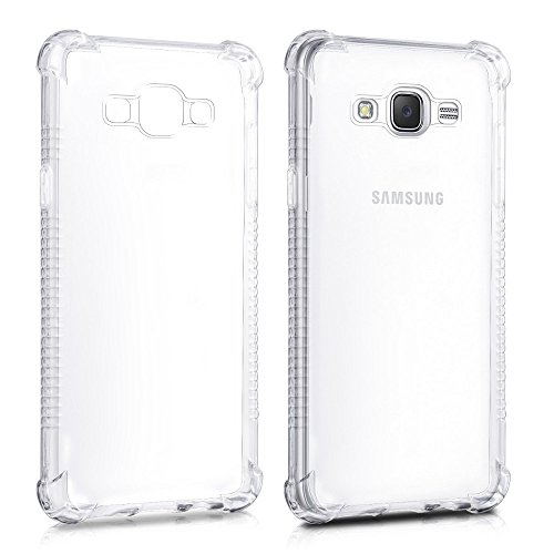 REY Funda Anti-Shock Gel Transparente para Samsung Galaxy J7 2016, Ultra Fina 0,33mm, Esquinas Reforzadas, Silicona TPU de Alta Resistencia y Flexibilidad, Anti Golpes