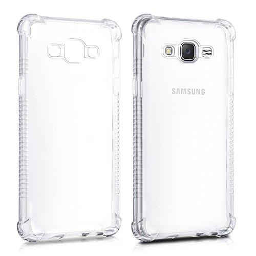 REY Funda Anti-Shock Gel Transparente para Samsung Galaxy J5 2016, Ultra Fina 0,33mm, Esquinas Reforzadas, Silicona TPU Alta Resistencia