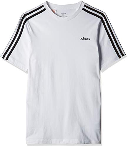 adidas Essentials 3S T-Shirt, Maglietta Bambino, Bianco/Nero, 13-14A