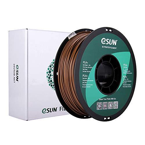 eSUN PLA+ Filament 2.85mm, PLA Plus 3D Printer Filament, Dimensional Accuracy +/- 0.03mm, 1KG (2.2 LBS) Spool 3D Printing Filament for 3D Printers, Brown