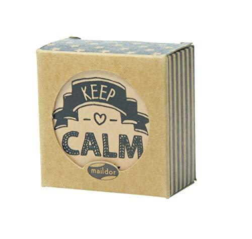 Maildor MI002O Stamp, stempel (van hout met positieve spreuken, ideaal voor kinderen, knutselprojecten en scrapbooking. 4,8 x 4,8 x 2 cm), 1 stuks. KEEP CALM gesorteerd