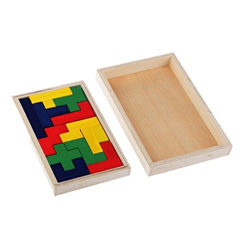 MagiDeal Holz Pentomino Puzzle Gehirn Teaser Geist Lernspiel - Denkspiel - Knobelspiel