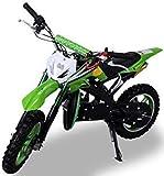 Kinder Mini Crossbike Delta 49 cc 2-takt Dirt Bike Dirtbike Pocket Cross (Grün)