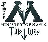 SetProducts  Top Pegatinas ! Divertido e Inconformista Pegatina de WC - Ministry of Magic This Way - Harry Potter - ¡Personaliza tu hogar! - Personaliza Tus Puertas, Tus Paredes, Tus baños, tu tazón