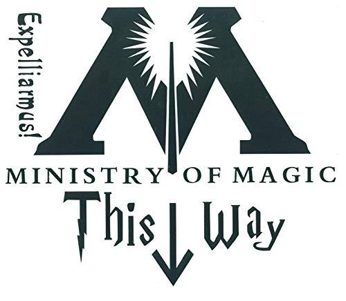 SetProducts  Top Aufkleber! Lustiger WC-Aufkleber Ministry of Magic - Harry Potter Toilet Stickers - Passen Sie Ihr Interieur an! - Passen Sie Ihre Türen, Wände, Toilettenartikel und Ihre Schüssel an