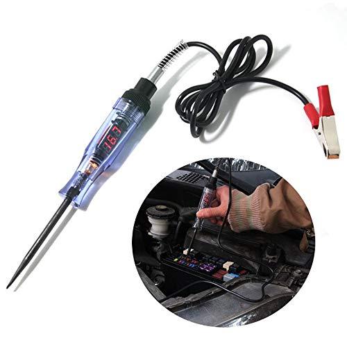 CONRAL 3V / 24V Auto Stromkreis Durchgangsprüfer mit Anzeigelampe, LCD Digitalanzeige, Kabellänge 95CM / 37.8inch