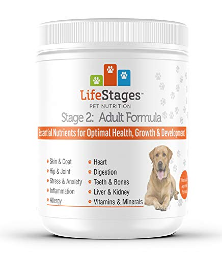 LifeStages Stage 2: Multivitamin Adult Formula for Dogs | All-in-One Support of Weight Management, Digestive Health, Hip & Joint Pain, Stress & Anxiety and Skin & Coat |All Natural - Vet Approved