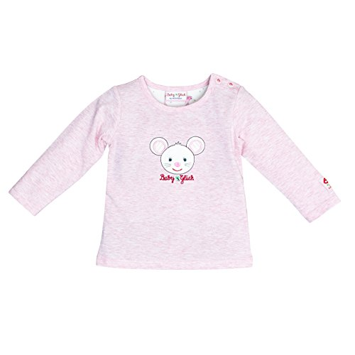 SALT AND PEPPER Salt & Pepper Baby-Mädchen BG Longsleeve Uni Maus OCS Langarmshirt, Pink (Sweet Rose Melange 805), 56