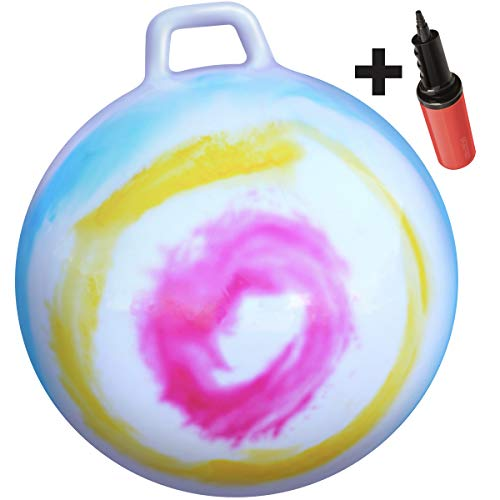 "WALIKI Hop Ball for Kids and Adults | Tie Dye Hopper | Jumping Hopping Ball | Field Day Relay Races (Ages: 16-101 (29""/75CM))"