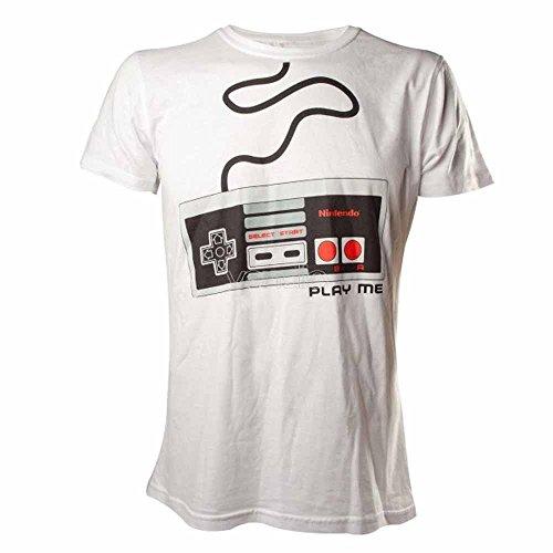 Nintendo T-Shirt -L- NES Controller, weiss