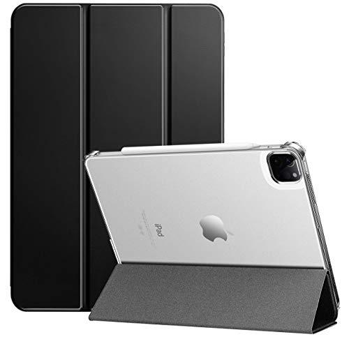 ZtotopCases Custodia per iPad PRO 11 2021, Ultra Slim Leggera Trifold Smart Cover con Auto Svegliati/Sonno, Supporta la Ricarica della Matita 2nd Gen, per iPad PRO 11 Pollice 3 Generazioni, Nero