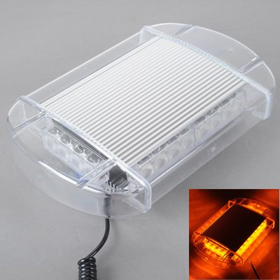 Advertencia cubo triángulo de luz Advertencia 24W Mini Barra de luz de luz estroboscópica con 6pcs bares 4-LED, amarillo claro XY Baliza de advertencia intermitente ámbar magnético de emergencia