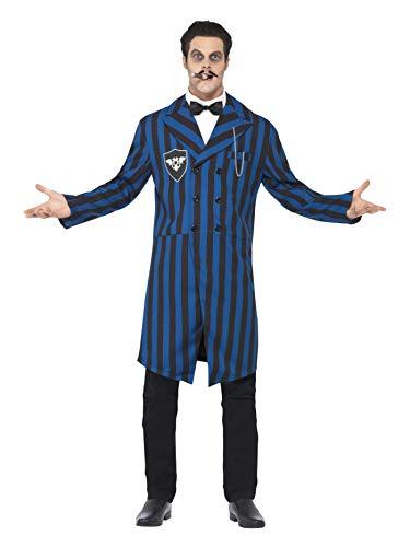 Disfraz del duque de la mansión Smiffys, con chaqueta, camisa falsa y pajarita, multicolor (azul / negro), M