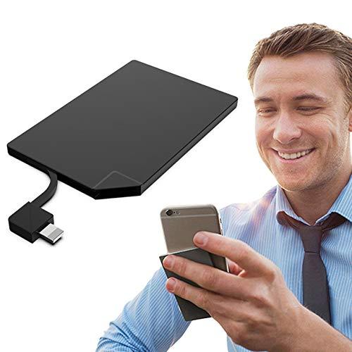 Longspeed Graphen-Batterie-Powerbank - Aufladen in wenigen Minuten 4 mm ultradünne Karte Mobile Power Portable - Black Andriod