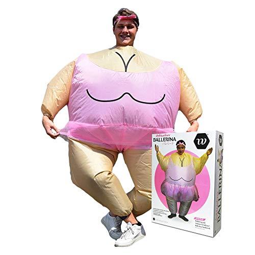 mikamax - Costume Gonfiabile di Sumo - Airsuit - Cosplay - per Adulti - Costume di Carnevale (Ballerina)