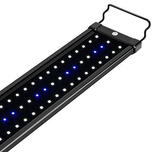 NICREW ClassicLED Luz LED Acuario, Lámpara de Acuario, Iluminación LED para Acuarios Plantados Lámpara LED para Peceras 98-128 cm, 25W, 7000K