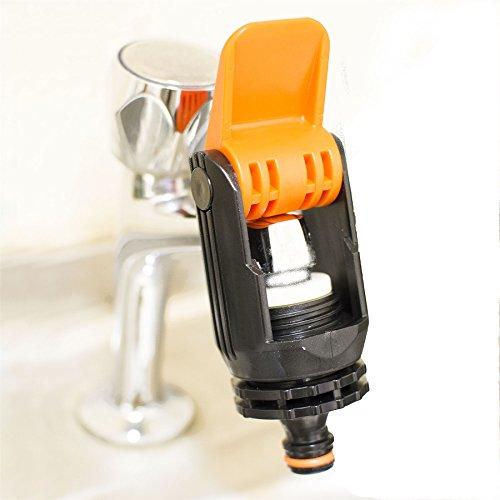Quantum Garden Universal-Wasserhahn-Adapter für Mischbatterie Küche Garten Schlauch Verbinder Fitting-BL