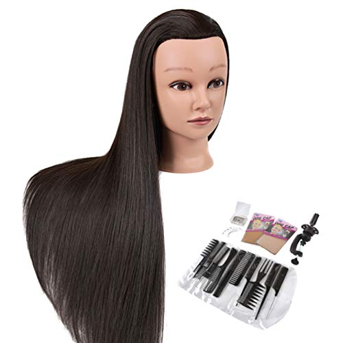 "Cosmetology Mannequin Head with Hair - 28"" Long Hair Mannequin Manican Heads, Premium Synthetic Fiber Manikin Maniquins Doll Head for Hair Styling"