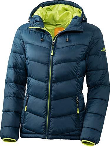 Nordcap Damen Jacke in Daunenoptik, warme Steppjacke in Petrol, tolle Übergangs- & Winterjacke, 100% Wattierung (Gr: 36-50)