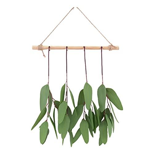 PINBinyee Plantas artificiales para interiores en macetas, hojas artificiales realistas para colgar, diseño de plástico, bonito para combinar con hojas de eucalipto para el hogar, 30 cm