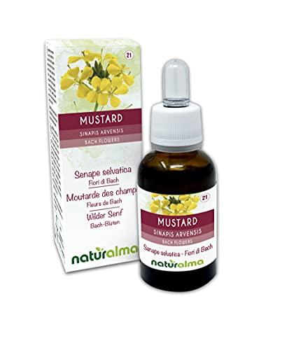 Mustard o senape selvatica (Sinapis arvensis) Fiori di Bach Naturalma   n. 21   Gocce 30 ml   Estratto liquido analcoolico   Essenza floreale   Vegano e Senza alcol