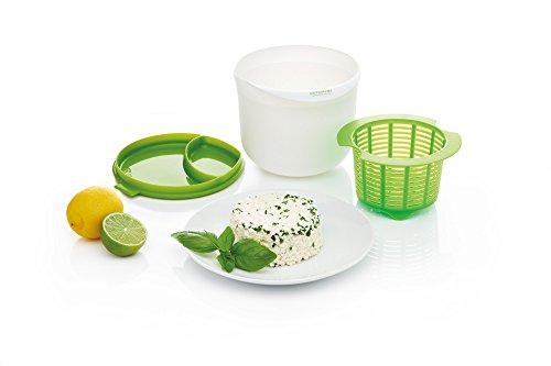 KitchenCraft - Kit para hacer queso en microondas, alimentación saludable, color verde y blanco