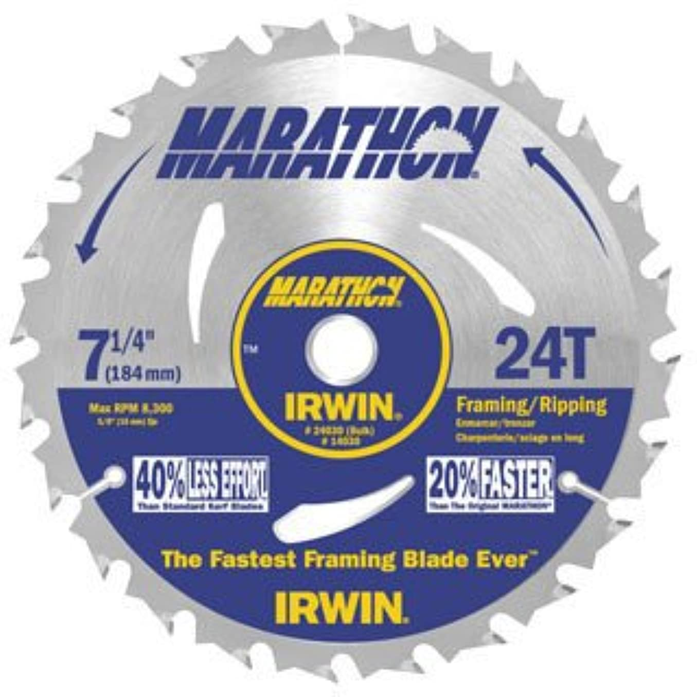 シネマコミュニティ仕方30枚パック アーウィン 24030 マラソン 18.42cm (7 1/4インチ) × 24本の歯 フレーミング及びリッピング 丸鋸刃 バルク (インポート)