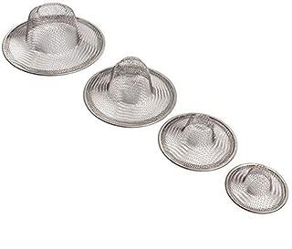 Maxware Stainless Steel Sink Strainer Set- 4 Pieces, Fits Most Kitchen Sinks, Bathroom Sinks,Shower Drains