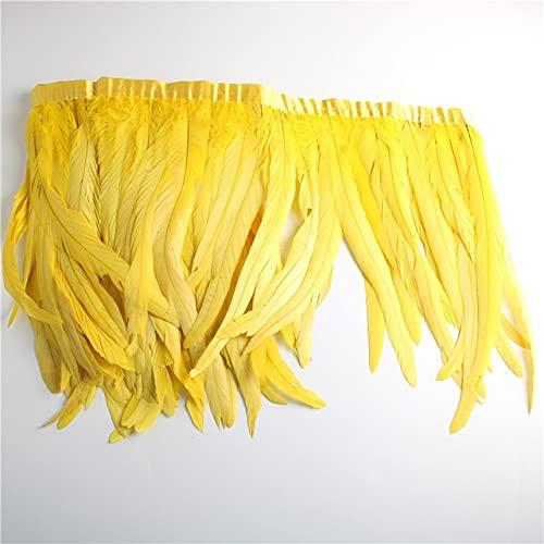 LAIY 25-30 cm / 10-12 Pulgadas Plumas de Cola de Gallo Vestido de Adorno Accesorios de decoración de Bricolaje Plumas para Manualidades Pluma de Cinta